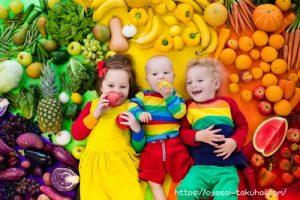 赤ちゃんと野菜&果物