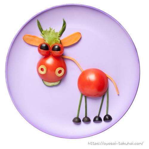 トマトで作った牛